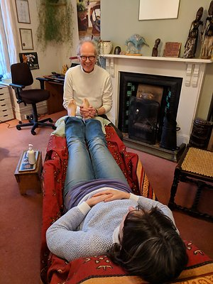 Reflexology. An enjoyable reflexology treatment